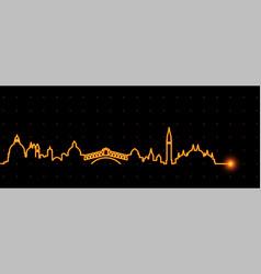 venice light streak skyline vector image