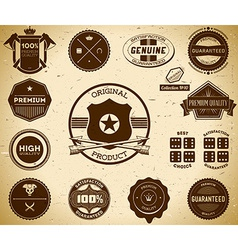Vintage labels Collection 10 vector image