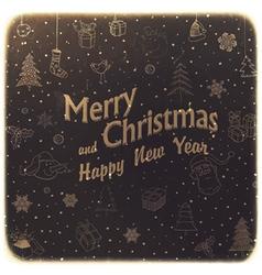 Vintage merry christmas vector