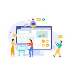 website development tools for services internet vector image