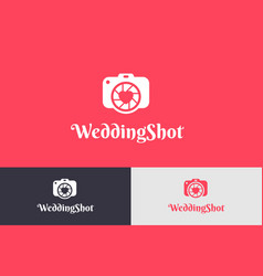 wedding shoot with camera logo vector image