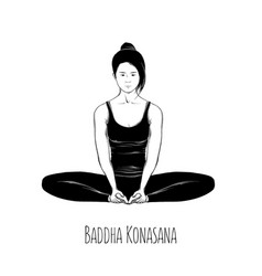 Yoga pose buddha konasana vector