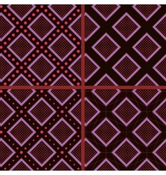 brown rhombuses and polka dot vector image vector image