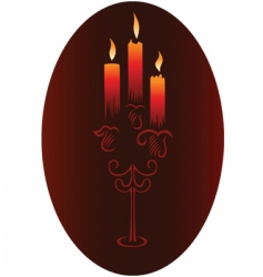 candlesticks with candles vector image