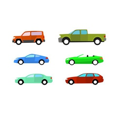 color cars vector image vector image