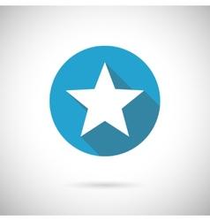 flat star icon vector image