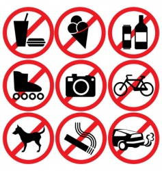 prohibited vector image vector image