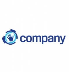 security technology hand logo vector image vector image