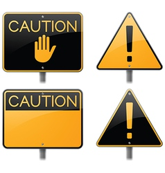 Caution and Warning Signs vector image
