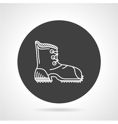 Hiking shoe black round icon vector