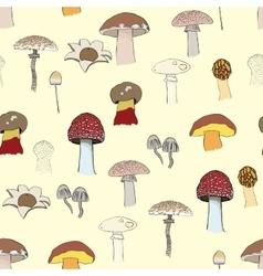 mushrooms pattern vector image vector image