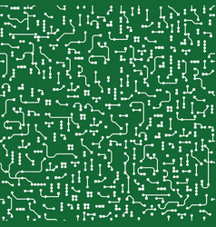 seamless background in pcb-layout style vector image