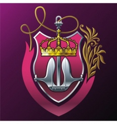 shield and anchor vector image vector image