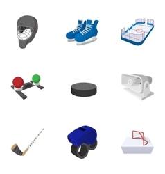 Canadian hockey icons set cartoon style vector image vector image