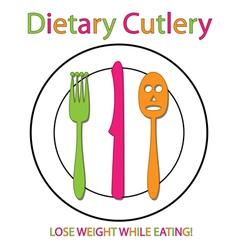 Dietary Cutlery vector image