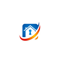 house secure icon logo vector image