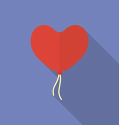 Icon of heart shaped balloon Flat style vector image vector image