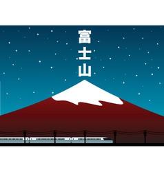 mount Fuji vector image vector image