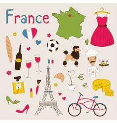 Paris set vector image vector image