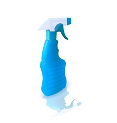 plastic bottle with detergent vector image vector image