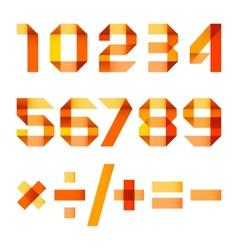 Spectral letters folded of paper orange ribbon - vector image vector image