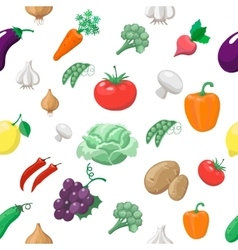 Vegetables and fruits seamless pattern Radishes vector image vector image