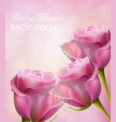 watercolor roses card happy women day vector image vector image