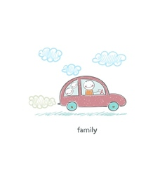Family car vector image