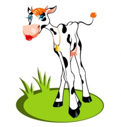 glamour cow vector image vector image