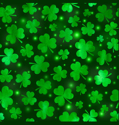 green clovers seamless pattern vector image vector image