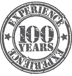 Grunge 100 years of experience rubber stamp vector image vector image