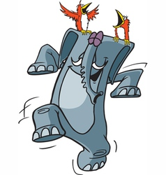 happy pachyderm vector image vector image