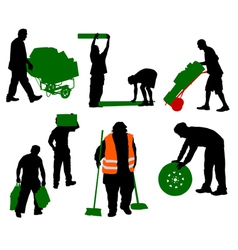 worked people vector image