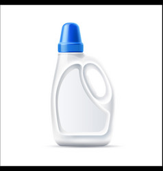 3d laundry detergent bottle blank mockup vector
