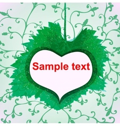 abstract green heart icon vector image