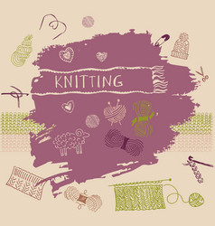 Banner Crafts knitting and crochet vector