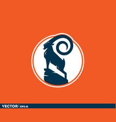 big horn ibex vector image