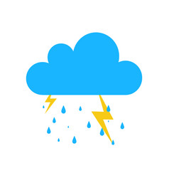 Blue storm rain icon isolated on background moder vector