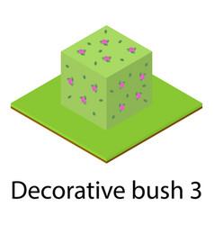 Bush icon isometric style vector