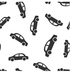 car icon seamless pattern background automobile vector image