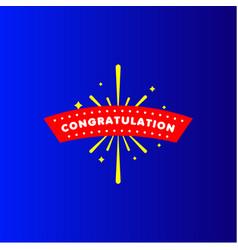 Congratulation template design vector
