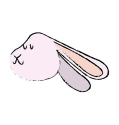 cute rabbit winter christmas image vector image