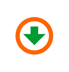 download icon flat download vector image