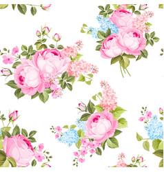 Elegant seamless rose pattern vector