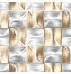Elegant square silver-golden seamless pattern vector