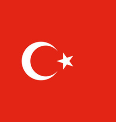 Flag of turkey in official rate and colors vector