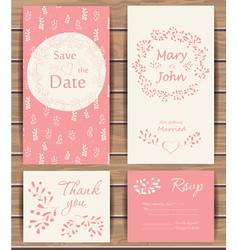 Floral wedding card vector image