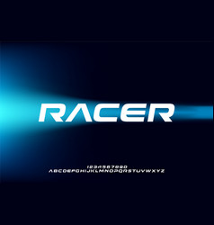 font racer vector image