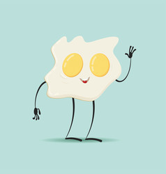 friendly fried eggs vector image