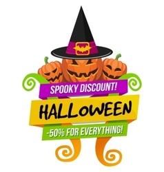 Halloween Sale Logo or Label vector image